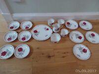 Royal Staffordshire Bone China Teaset ( Roses to Remember )