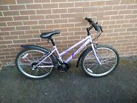Girl's bike, vguc, lilac purple