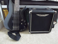 Ibanez Bass Guitar (Right handed) and Ashdown Bass Amp (15 Watt).