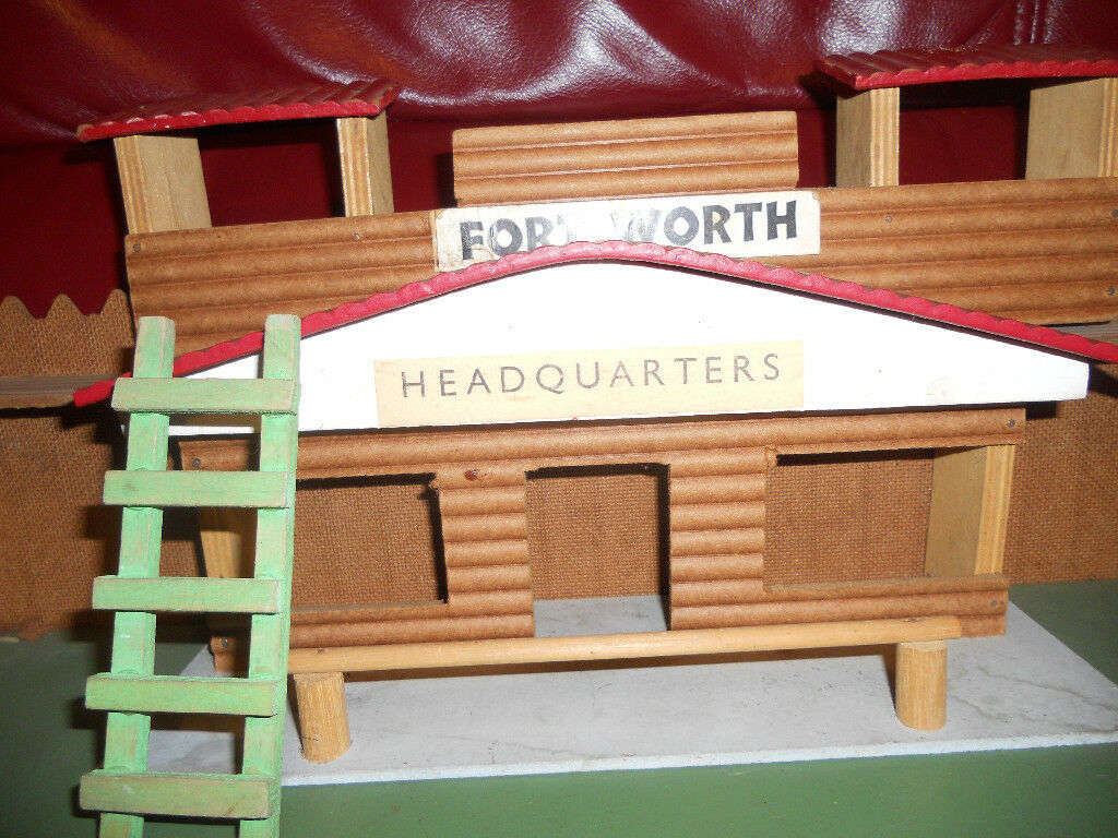 Old Vintage Wooden Toy Child's Play Fort 'Fort