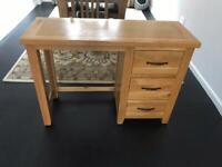 Wooden solid oak desk