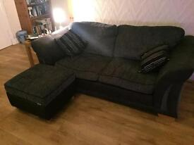 2 couches (one a sofa bed) chair and foot stool