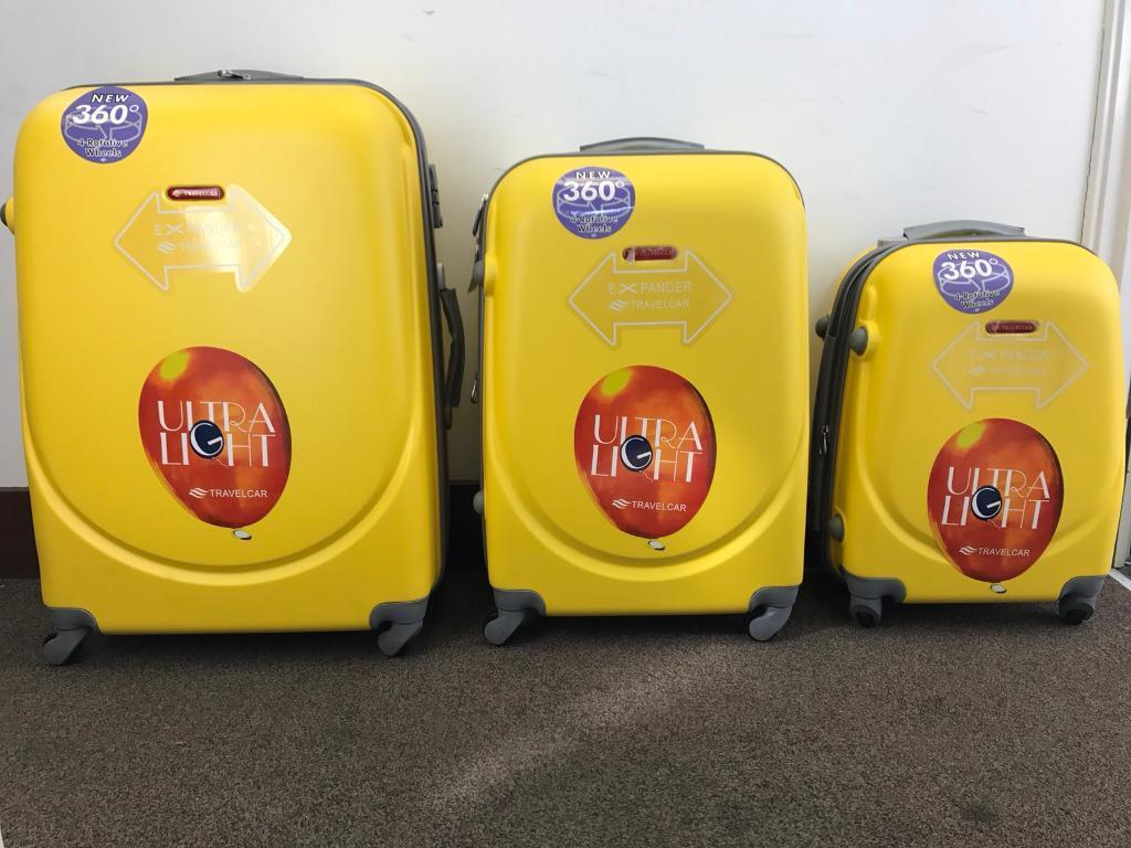 3xSuitcase M L XL 40/78/124 Liters Hard &