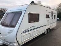 Sterling 5/6 berth double axel, may part ex for one with fixed bed