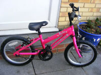 "GIRLS 16"" WHEEL RIDGEBACK BIKE IN GREAT WORKING ORDER AGE 4+"
