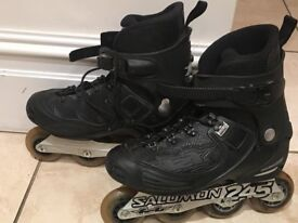 Solomon 245 ROLLERBLADES with Knee&elbow pads £30size UK7.5/eur41
