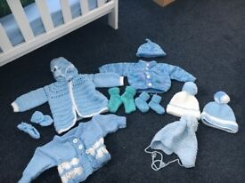 Knitted baby boy clothes