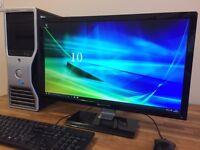 "GAMING PC Dell XEON 4 Core x 3.20GHZ - 16 GB Ram - Ati FirePro V8700 3D Graphics + 24"" Monitor"