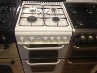 White Hotpoint gas cooker