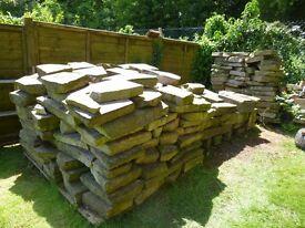York Stone Originally laid as crazy paving