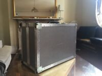 Good Condition, Full Metal Flight Case, Impact foam Lined, 4 Wheeled w/ Handle
