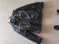 Black leather Jacket. By Blend. size large
