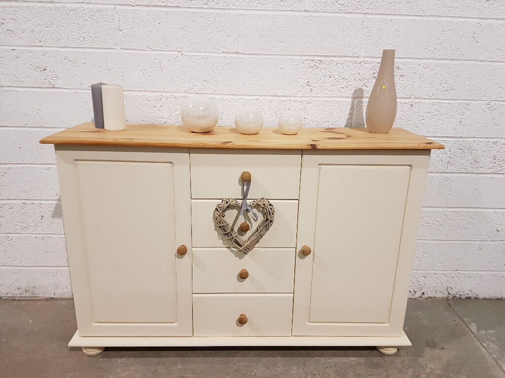 Shabby Chic Pine Sideboard In Rustoleum Clotted Cream Chalk Paint ...