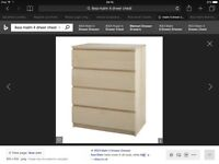 2x IKEA Malm 4 Drawer Chest of drawers in birch, matching bed and 2 draw available