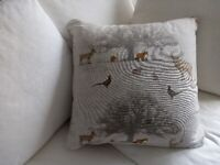 New Square 22inch country design feather filled cushion
