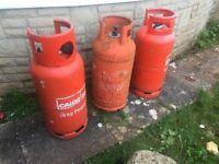 3 x 19kg gas bottles