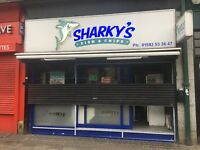 Sharkys fish and chips, kebabs and burgers