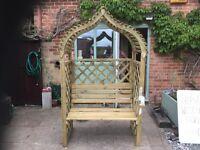 Rowlinson Kashmir Garden Arbour, New, Built.
