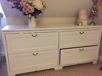 lovely large white Ikea chest of drawers