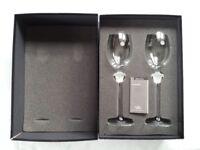 2 Rosenthal Studio-Line Versace Medusa Lumiere white wine glasses / goblets
