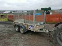 Ifor williams gd84 trailer with mesh greedy sides new brakes fitted