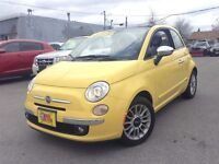 2012 Fiat 500C Lounge LEATHER!!!!!CONVERTIBLE ALLOYS AUTO