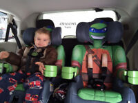 Ninja Turtle (Leo) Car Seat - used once, immaculate - Group 1 2 3 9 - 36kgs (up to 12 years)