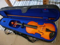 Stentor full-size violin outfit - excellent condition, ready to play