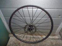 26 inch Mountain Bike Disc Brake Front Wheel Specialized Hub Alex Rim Red Anodisied Spoke Nipples