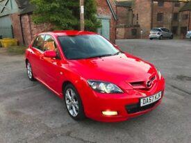 ** BOSE SYSTEM ** RARE ** 2007 Mazda 3 2.0 D Sport Hatchback 5 DOOR DIESEL RED