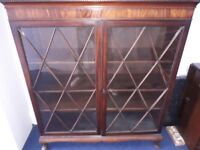 Circa late 19th/early 20th century glass fronted bookcase