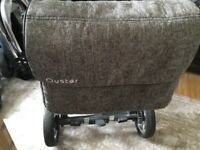 Oyster 2 pushchair with matching baby bag and cosytoes