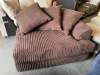 New Dunelm Jasper Sofa 2 Seater Section Only Left hand Corner Section in Brown Jumbo Cord Fabric