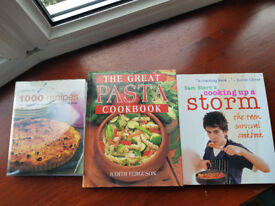1000 recipes, the great Pasta cookbook and cooking up a storm