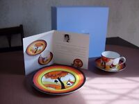 WEDGWOOD CLARICE CLIFF CUP & SAUCER and PLATE
