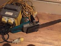 Makita chainsaw 110box and cables