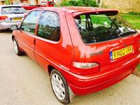 Saxo 1.0 8 month mot 12 month tax very reliable car lady owner £350