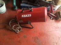 Gas workshop space heater Kongskilde