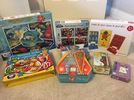 Kids games & puzzles, bundle of 7, inc. Octonauts, Spider-Man & Gruffalo