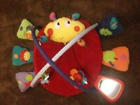 3 ITEMS. MAMAS AND PAPAS PLAYMAT/CLOVER COW SIT ME UP ELC/REDKITE INFLATABLE RING
