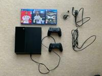 PS4 + Controllers + Games