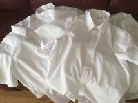 M & S school shirts size 13/14yrs short sleeves
