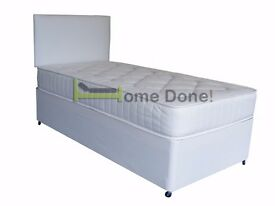**7-DAY MONEY BACK GUARANTEE!** Single/ Small Double Bed w/ 11inch Full Orthopaedic Mattress RRP£159