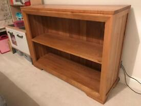 Natural Solid Oak Small Bookcase - Bevel Range