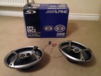 ALPINE 6 X 9 CAR SPEAKERS - 250W - SPS - 693C