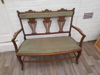 Very old bench seat