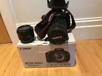 Canon EOS 600D with 18-135mm kit lense and portrait lense
