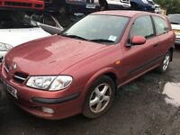 2001 NISSAN ALMERA SPORT (MANUAL PETROL)- FOR PARTS ONLY