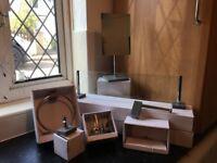 Bathroom Set - NEW B&Q Stone Effect Bathroom 6 Piece Set - High Quality Bathroom Accessories