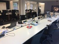 OFFICE DESKS - BANK OF 8 - will require dismantling and collecting